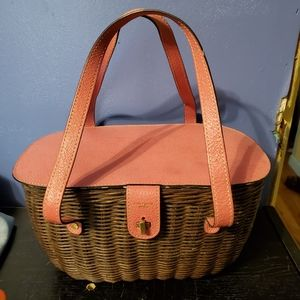 Kate Spade Brown and Pink Purse Authentic
